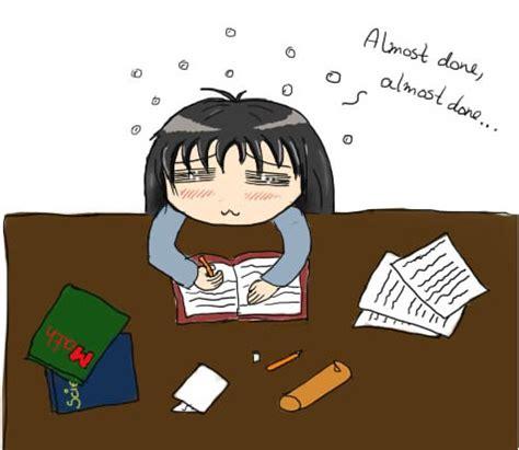 Stress homework too much